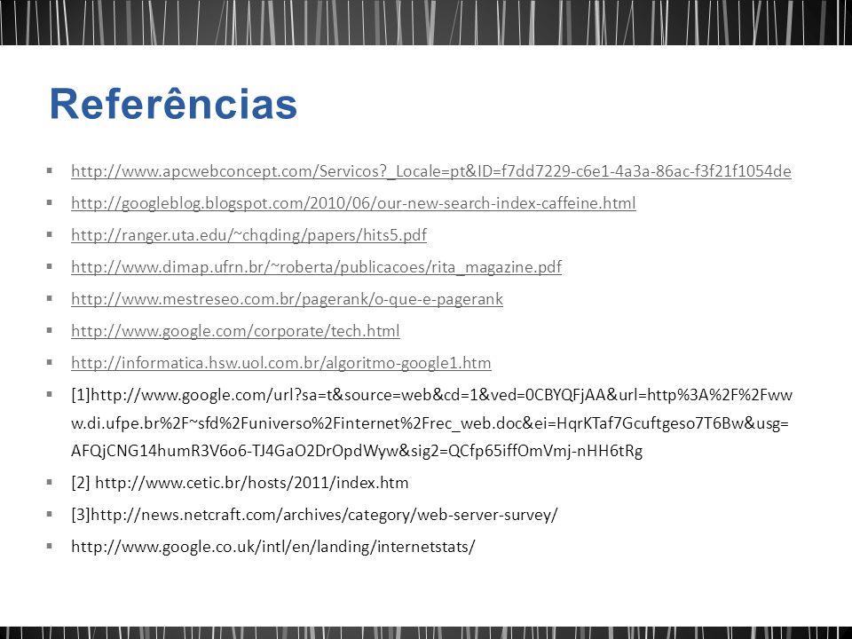 Referências http://www.apcwebconcept.com/Servicos _Locale=pt&ID=f7dd7229-c6e1-4a3a-86ac-f3f21f1054de.