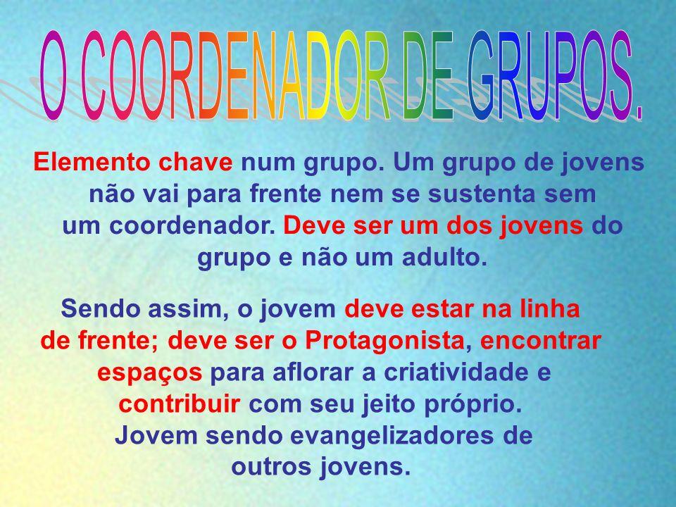 O COORDENADOR DE GRUPOS.