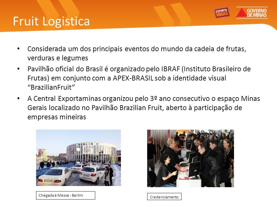 Fruit Logistica Considerada um dos principais eventos do mundo da cadeia de frutas, verduras e legumes.