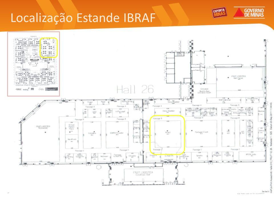 Localização Estande IBRAF
