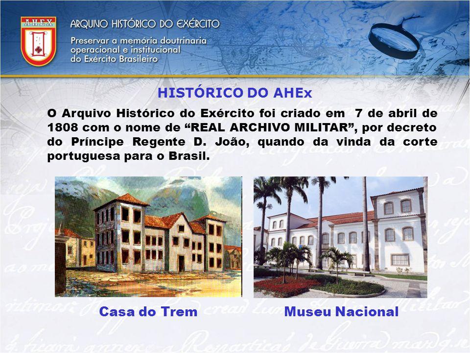 HISTÓRICO DO AHEx Casa do Trem Museu Nacional