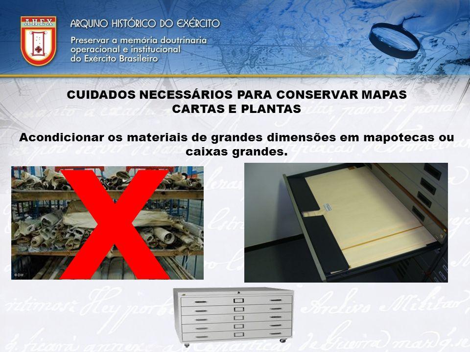 CUIDADOS NECESSÁRIOS PARA CONSERVAR MAPAS