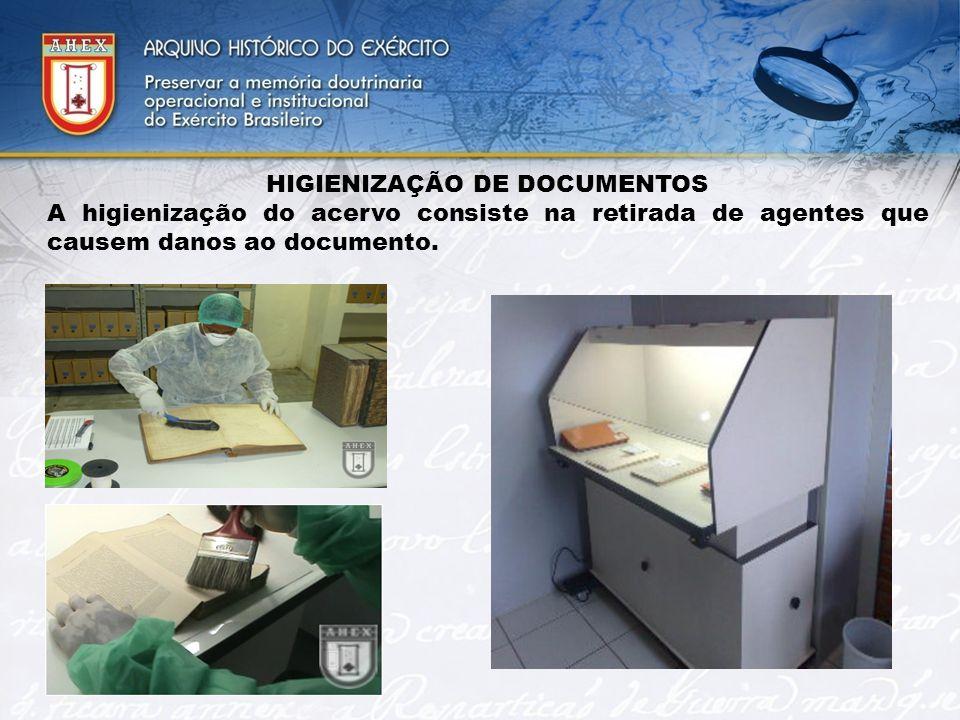 HIGIENIZAÇÃO DE DOCUMENTOS