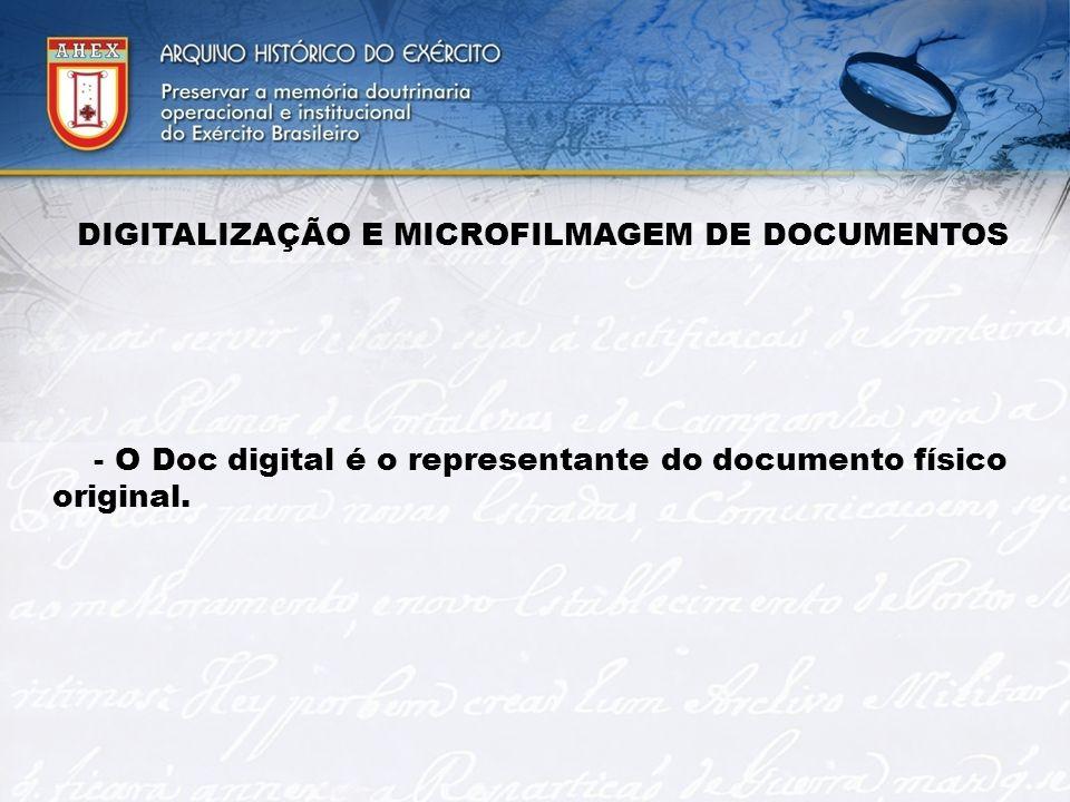 DIGITALIZAÇÃO E MICROFILMAGEM DE DOCUMENTOS