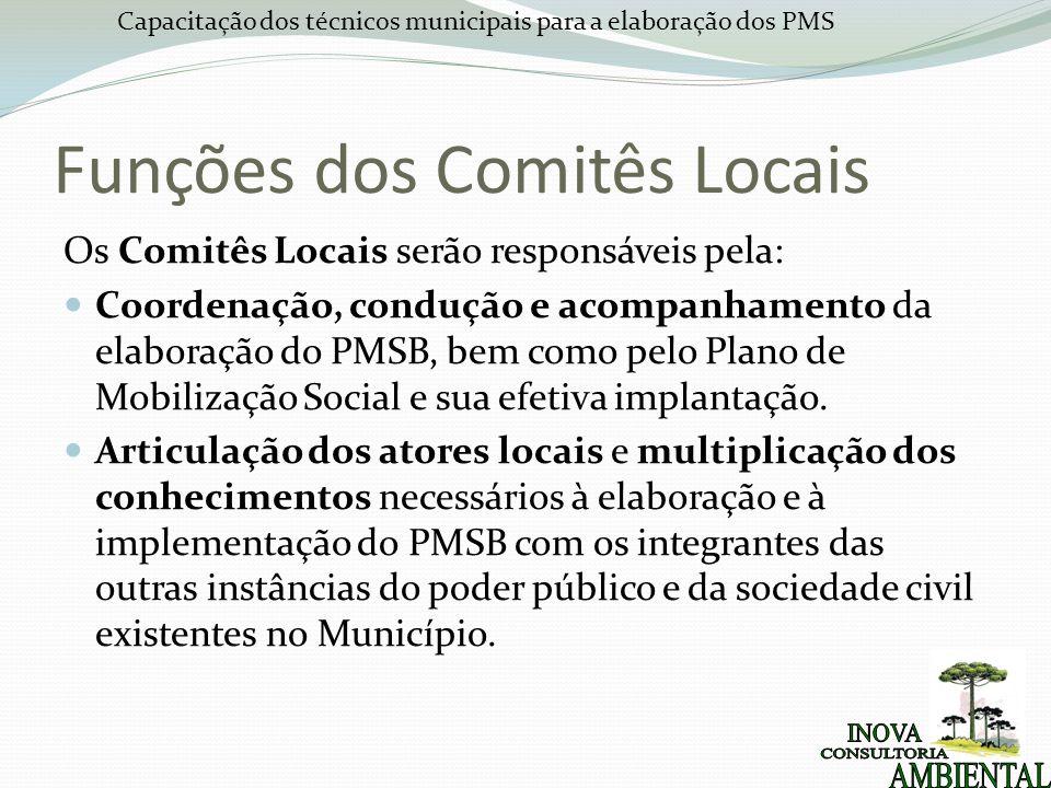 Funções dos Comitês Locais