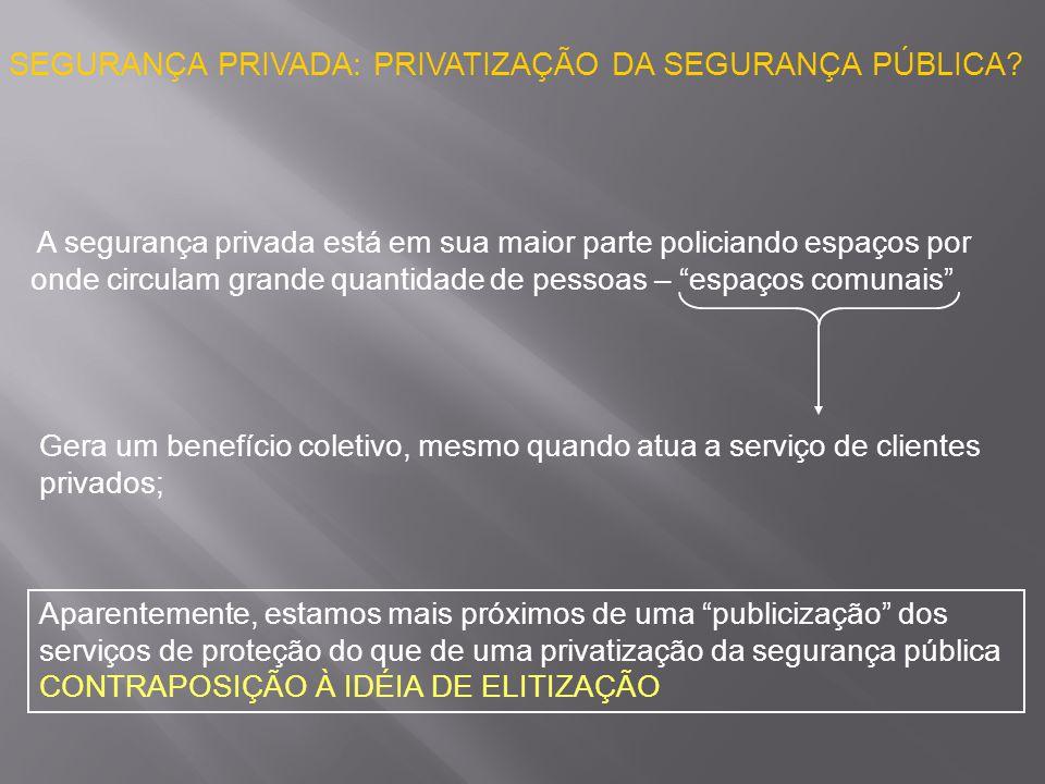 SEGURANÇA PRIVADA: PRIVATIZAÇÃO DA SEGURANÇA PÚBLICA