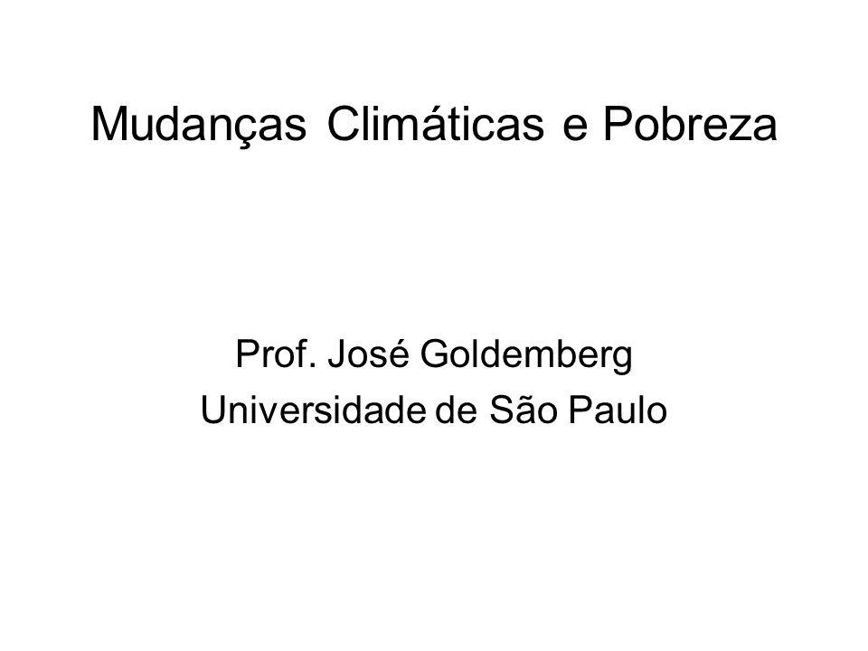 Mudanças Climáticas e Pobreza