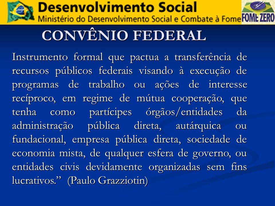 CONVÊNIO FEDERAL