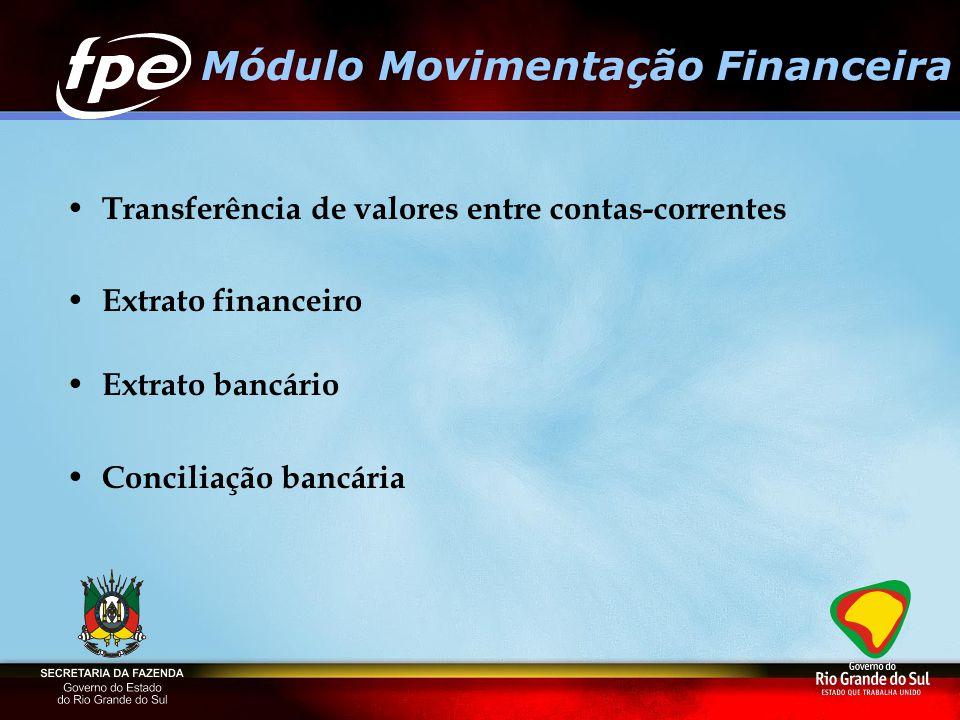 Módulo Movimentação Financeira