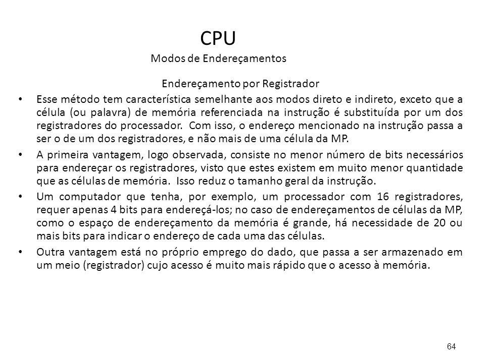 CPU Modos de Endereçamentos