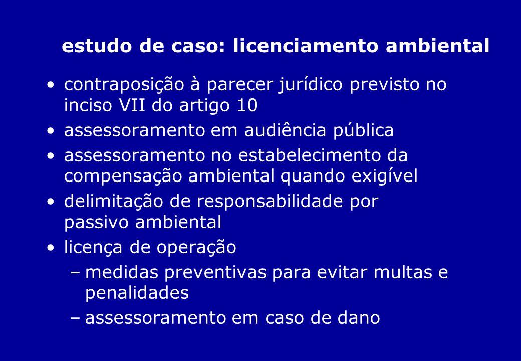 estudo de caso: licenciamento ambiental