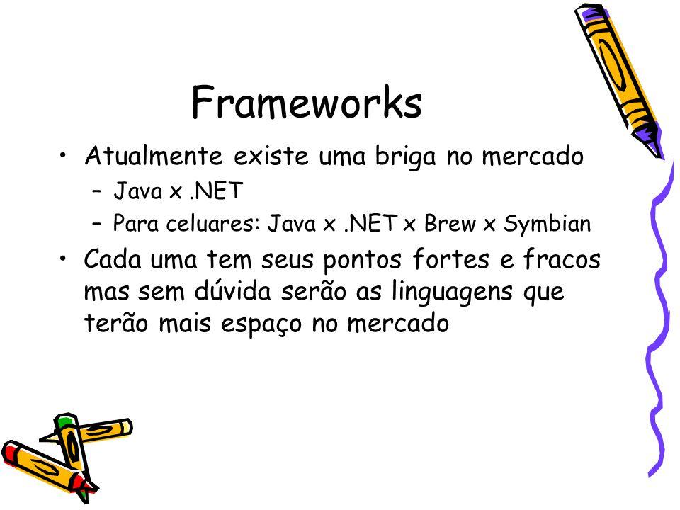 Frameworks Atualmente existe uma briga no mercado