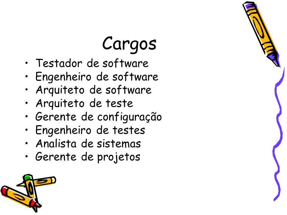 Cargos Testador de software Engenheiro de software