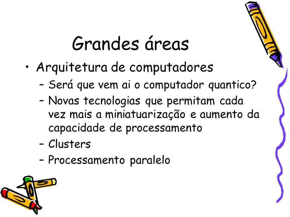 Grandes áreas Arquitetura de computadores