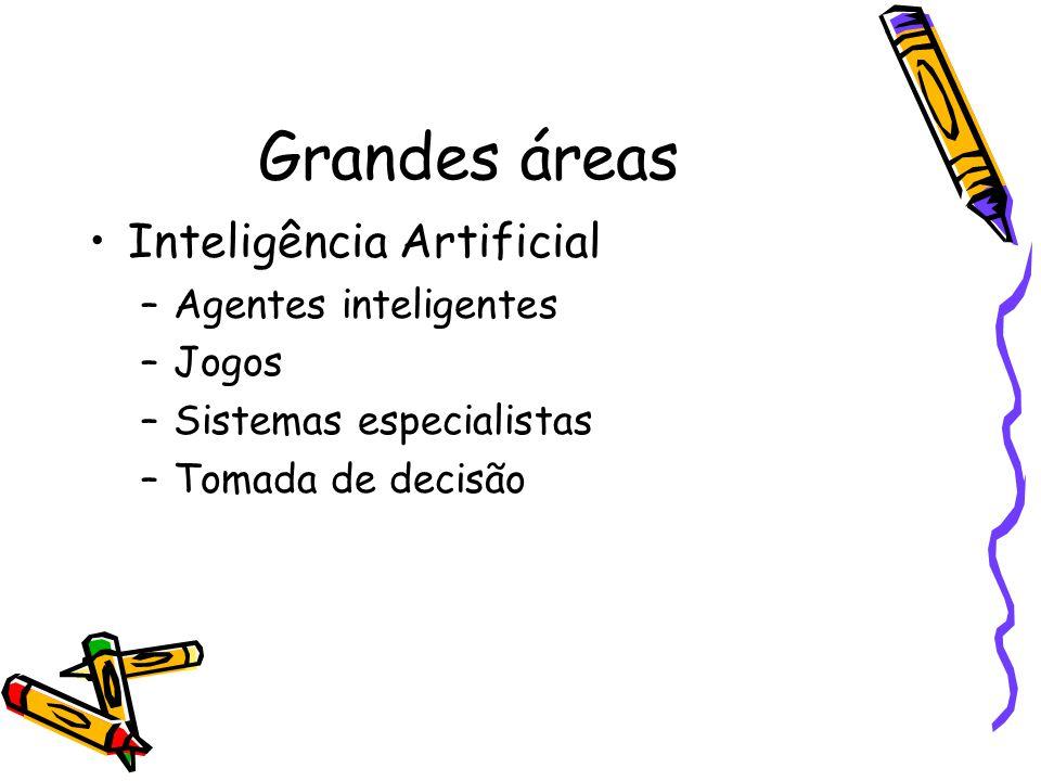 Grandes áreas Inteligência Artificial Agentes inteligentes Jogos