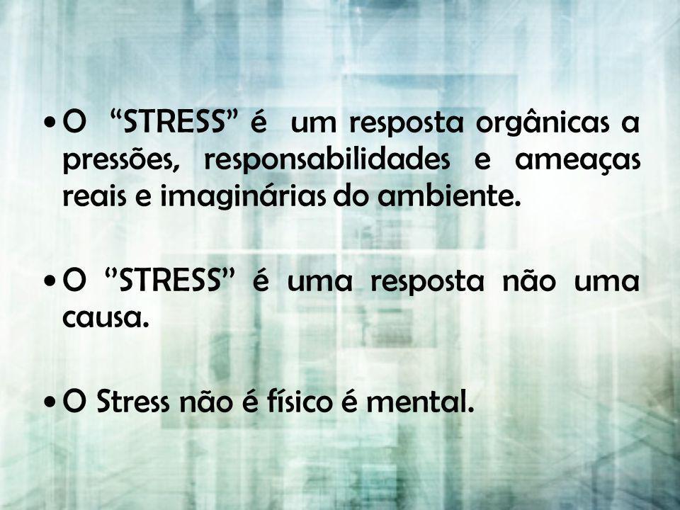 O STRESS é um resposta orgânicas a pressões, responsabilidades e ameaças reais e imaginárias do ambiente.