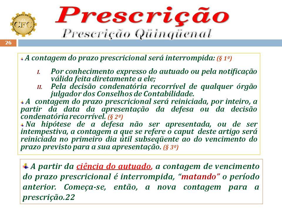 Prescrição Qüinqüenal
