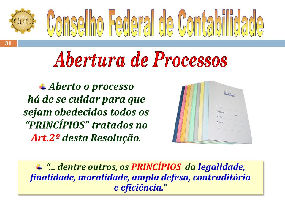 Abertura de Processos Conselho Federal de Contabilidade