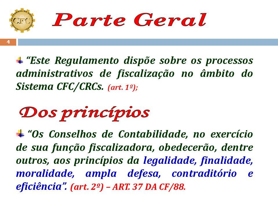 Parte Geral Dos princípios
