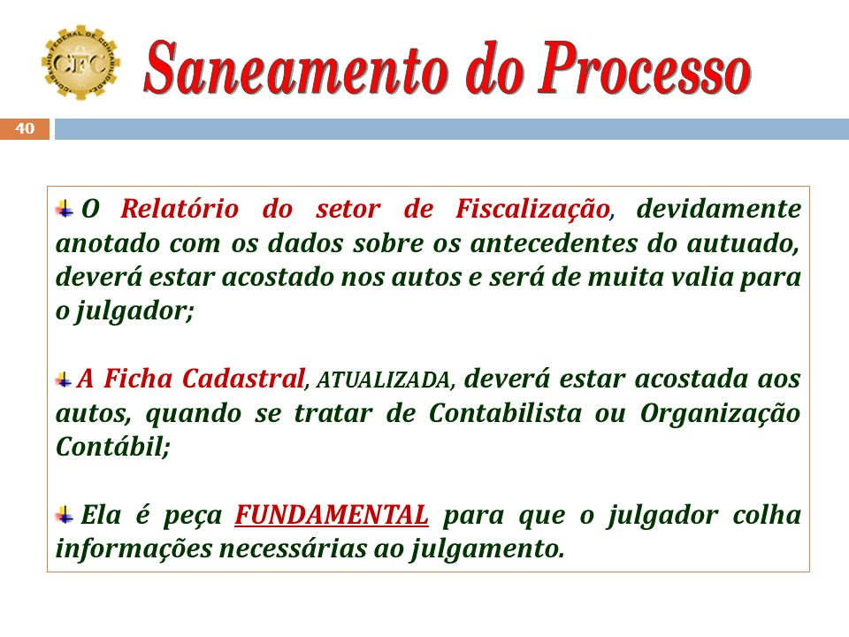 Saneamento do Processo