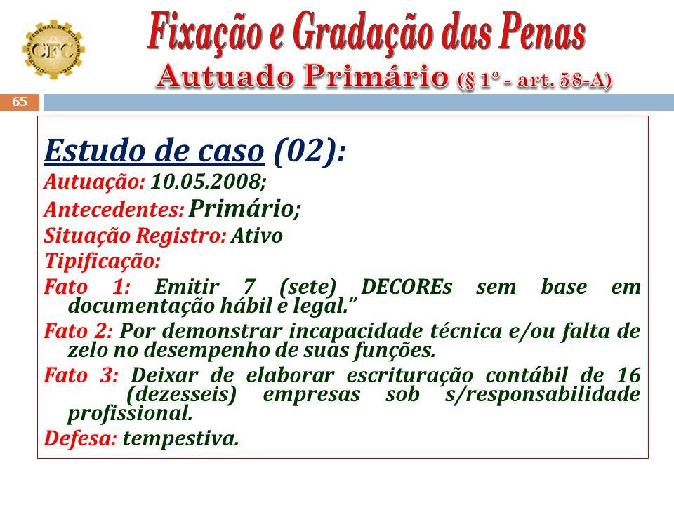 Autuado Primário (§ 1º - art. 58-A)