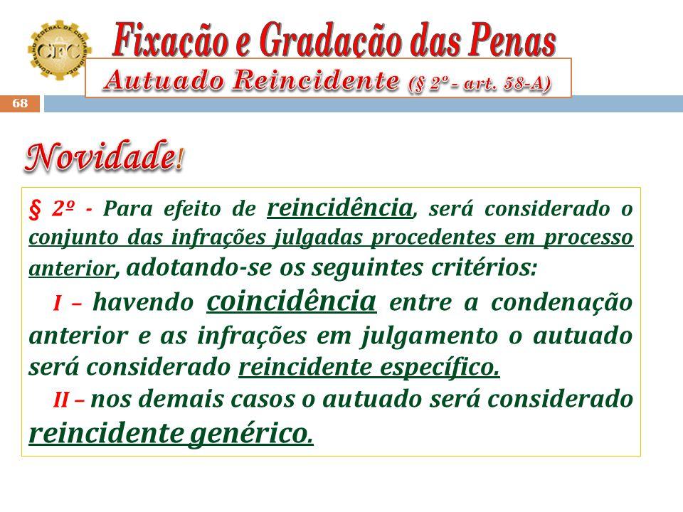 Autuado Reincidente (§ 2º - art. 58-A)