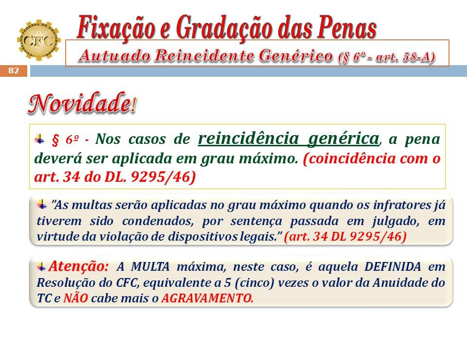 Autuado Reincidente Genérico (§ 6º - art. 58-A)