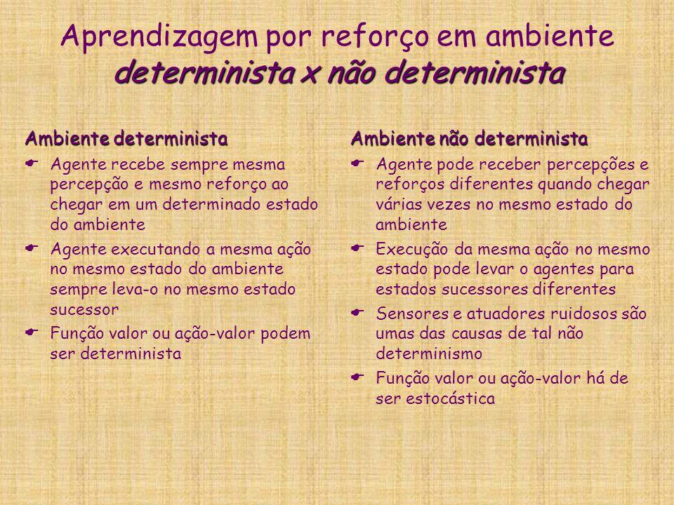 Aprendizagem por reforço em ambiente determinista x não determinista