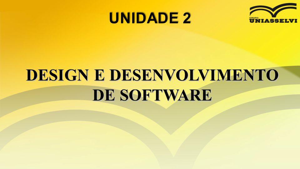 DESIGN E DESENVOLVIMENTO DE SOFTWARE