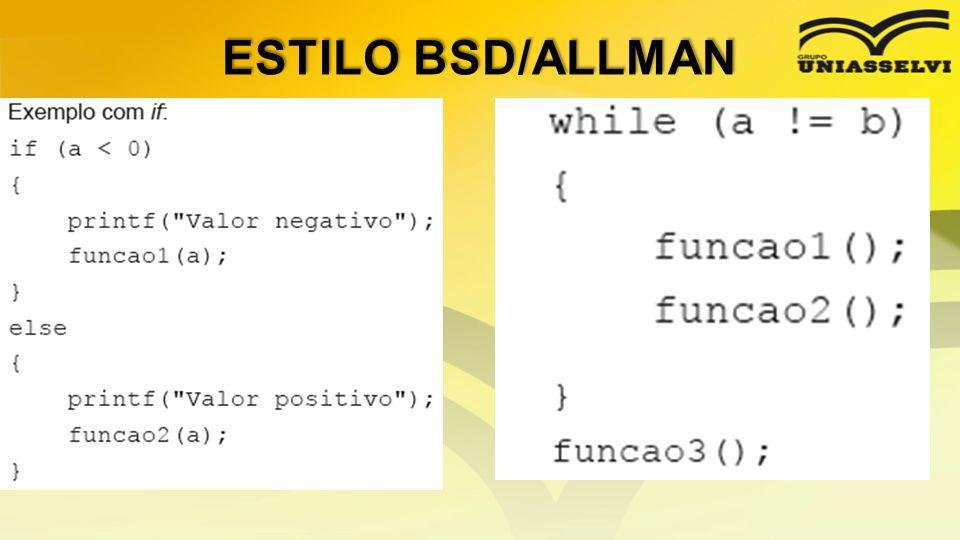 ESTILO BSD/ALLMAN