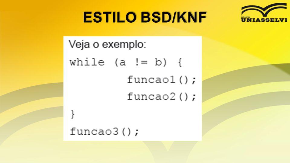ESTILO BSD/KNF