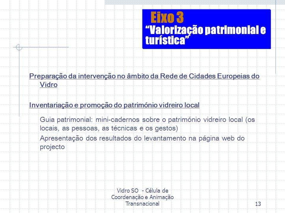 Vidro SO - Célula de Coordenação e Animação Transnacional