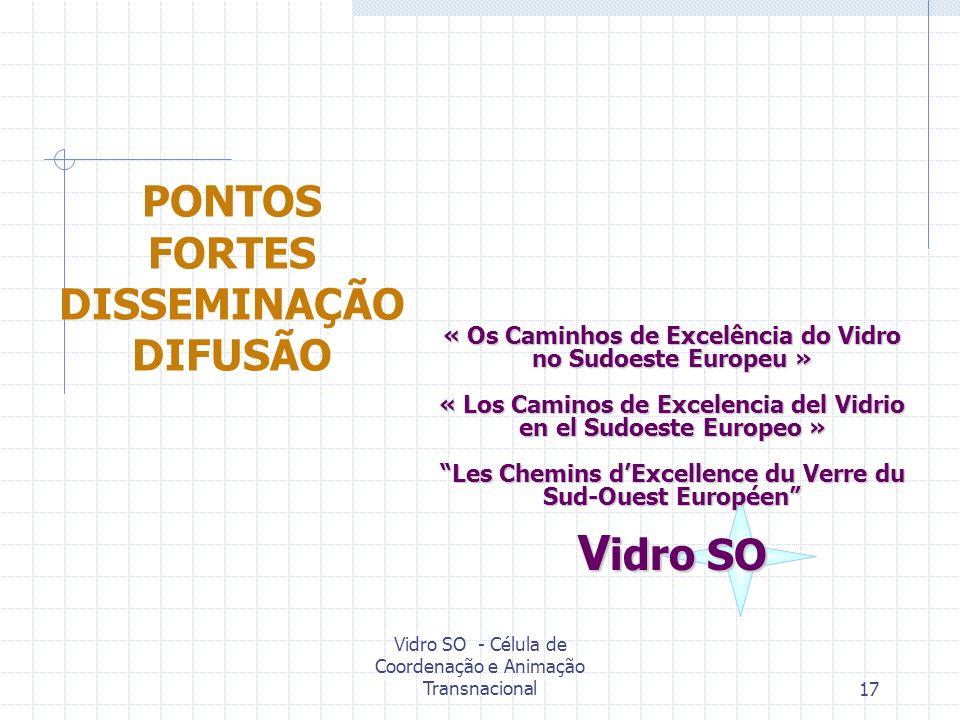 PONTOS FORTES DISSEMINAÇÃO DIFUSÃO