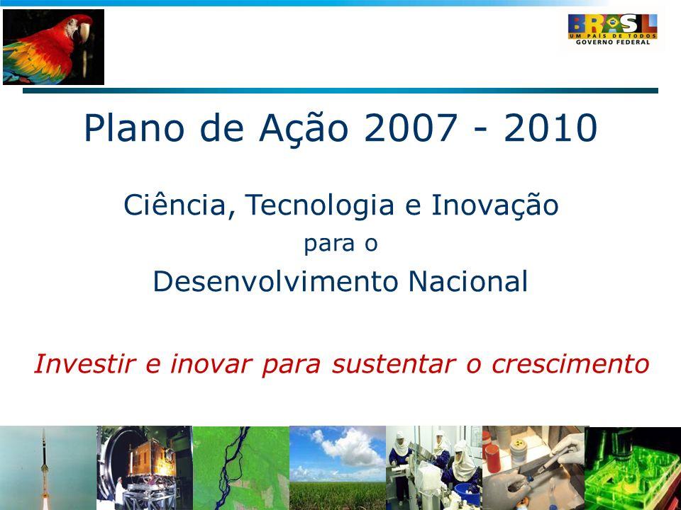 Plano de Ação 2007 - 2010 Ciência, Tecnologia e Inovação