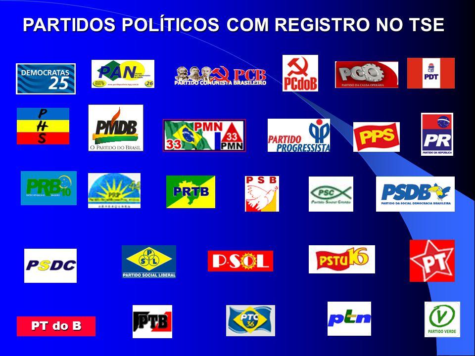 PARTIDOS POLÍTICOS COM REGISTRO NO TSE