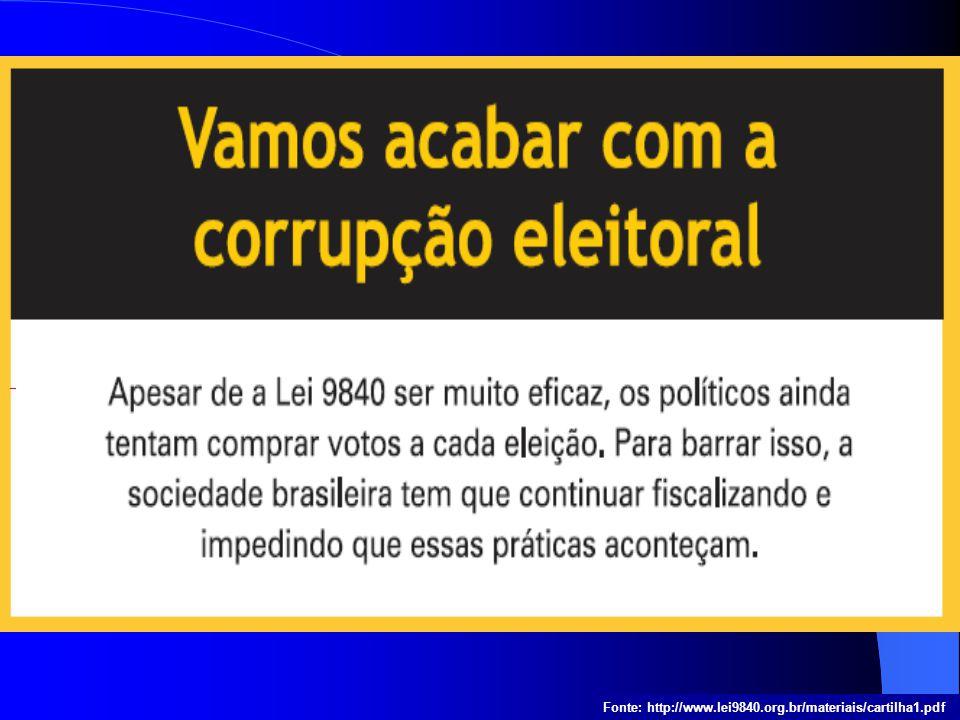 Fonte: http://www.lei9840.org.br/materiais/cartilha1.pdf