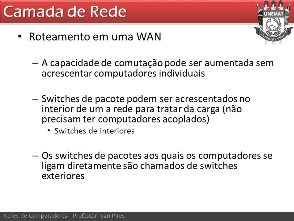 Camada de Rede Roteamento em uma WAN