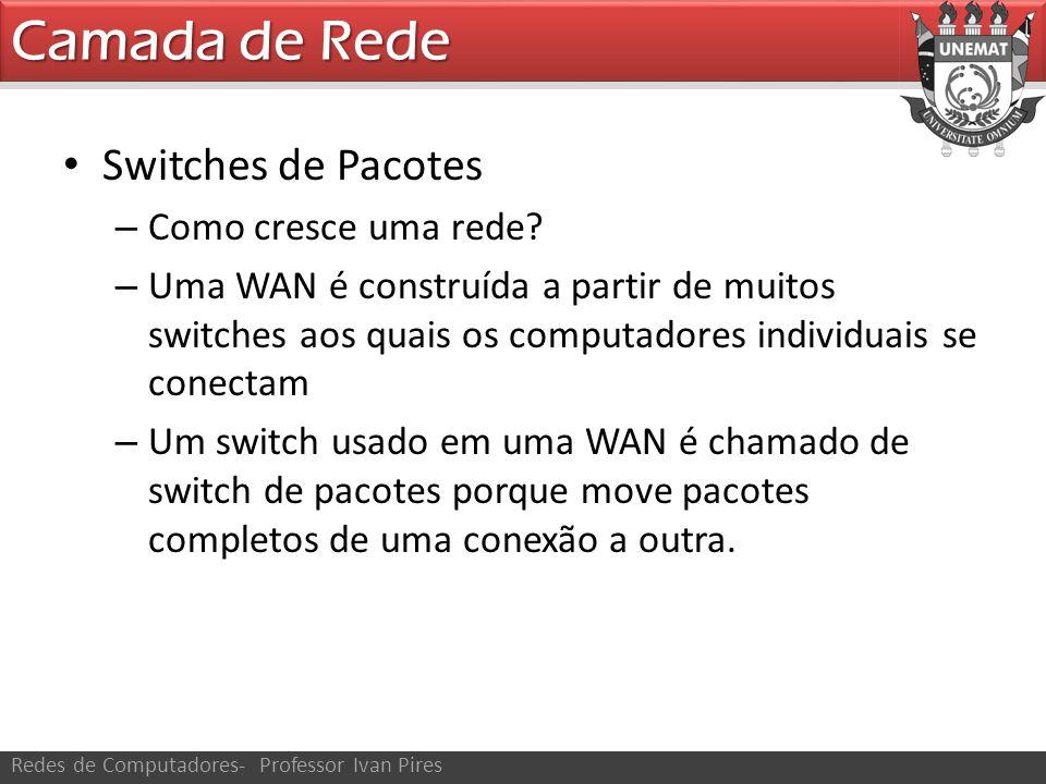 Camada de Rede Switches de Pacotes Como cresce uma rede