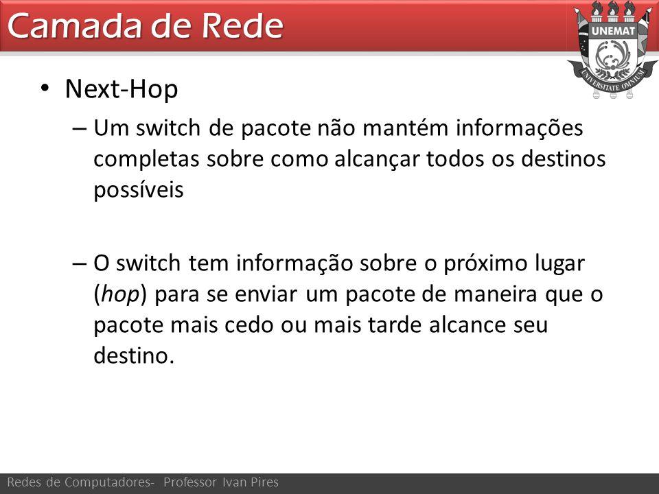 Camada de Rede Next-Hop