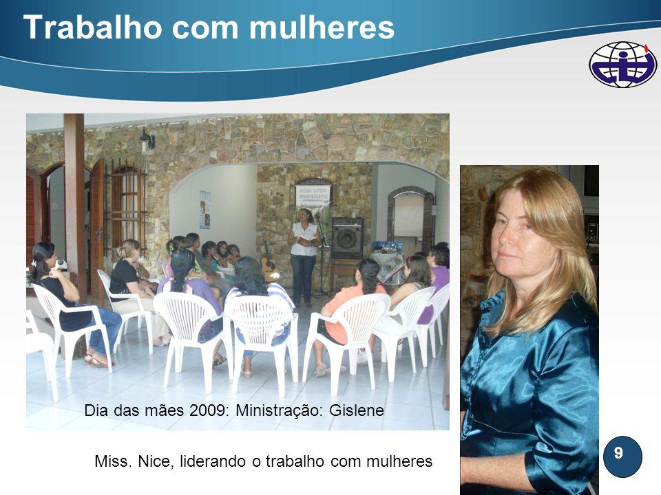 Trabalho com mulheres Dia das mães 2009: Ministração: Gislene
