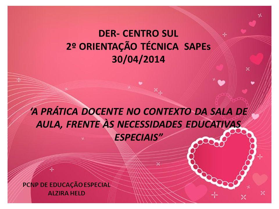 2º ORIENTAÇÃO TÉCNICA SAPEs PCNP DE EDUCAÇÃO ESPECIAL