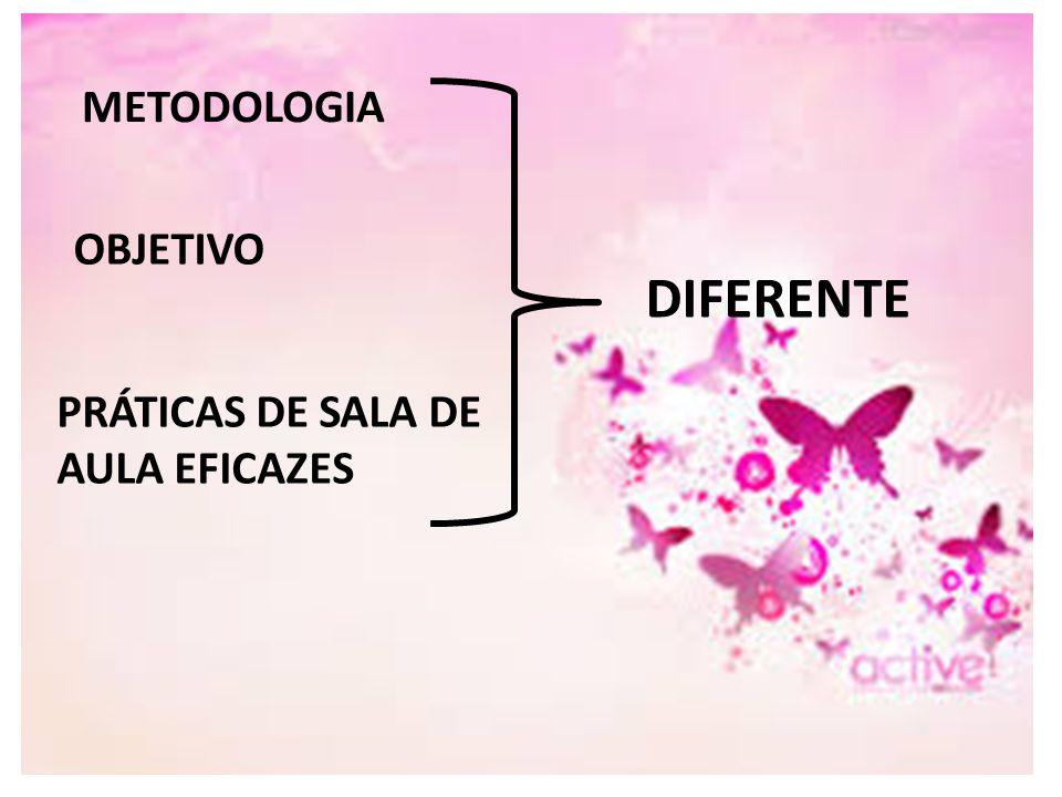 METODOLOGIA OBJETIVO DIFERENTE PRÁTICAS DE SALA DE AULA EFICAZES