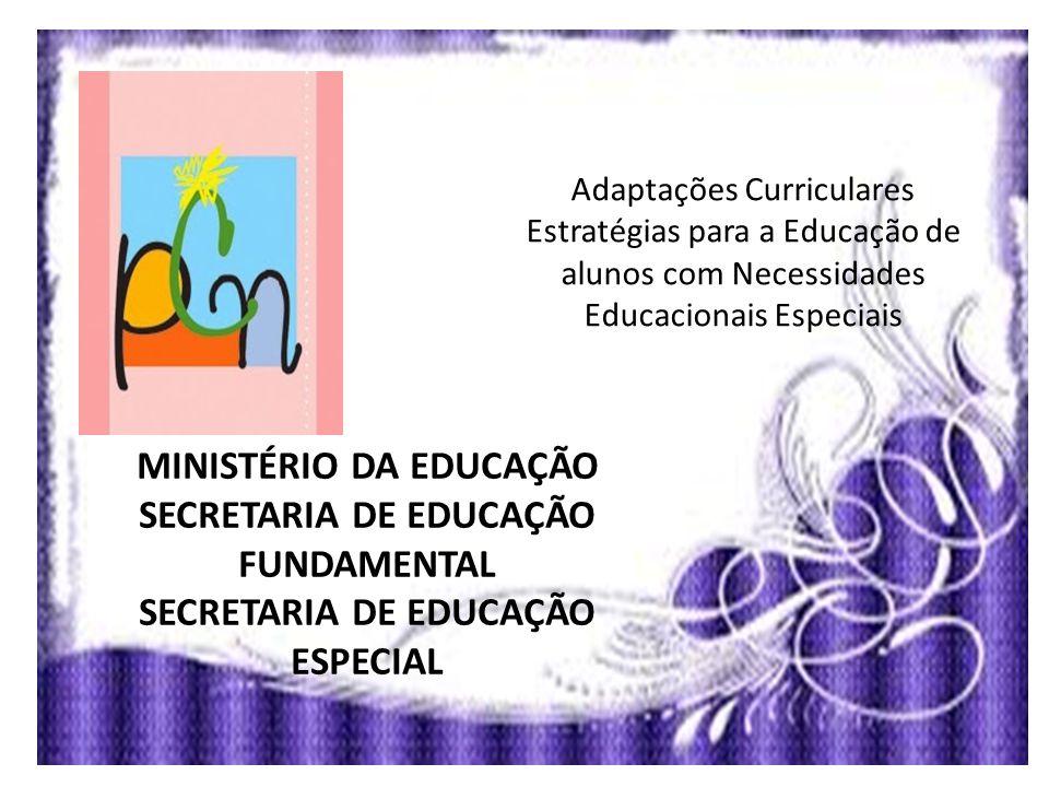 MINISTÉRIO DA EDUCAÇÃO SECRETARIA DE EDUCAÇÃO FUNDAMENTAL