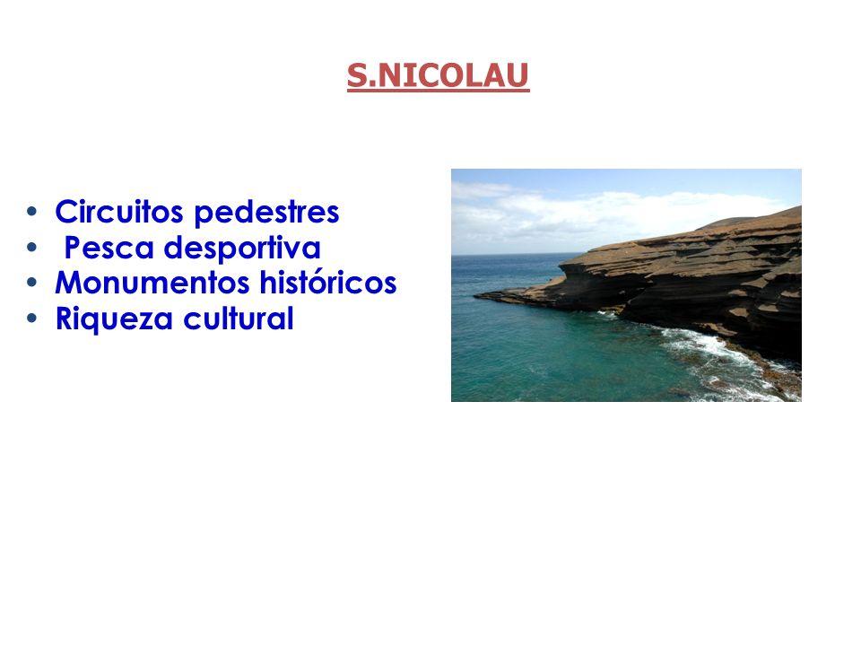 S.NICOLAU Circuitos pedestres Pesca desportiva Monumentos históricos