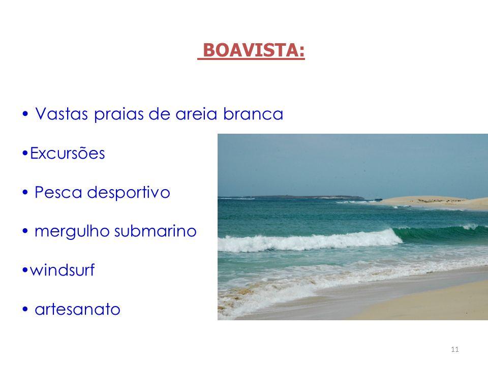 BOAVISTA: Vastas praias de areia branca Excursões Pesca desportivo