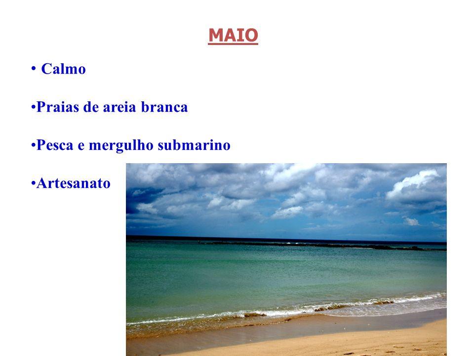 MAIO Calmo Praias de areia branca Pesca e mergulho submarino