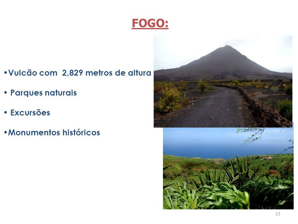 FOGO: Vulcão com 2,829 metros de altura Parques naturais Excursões