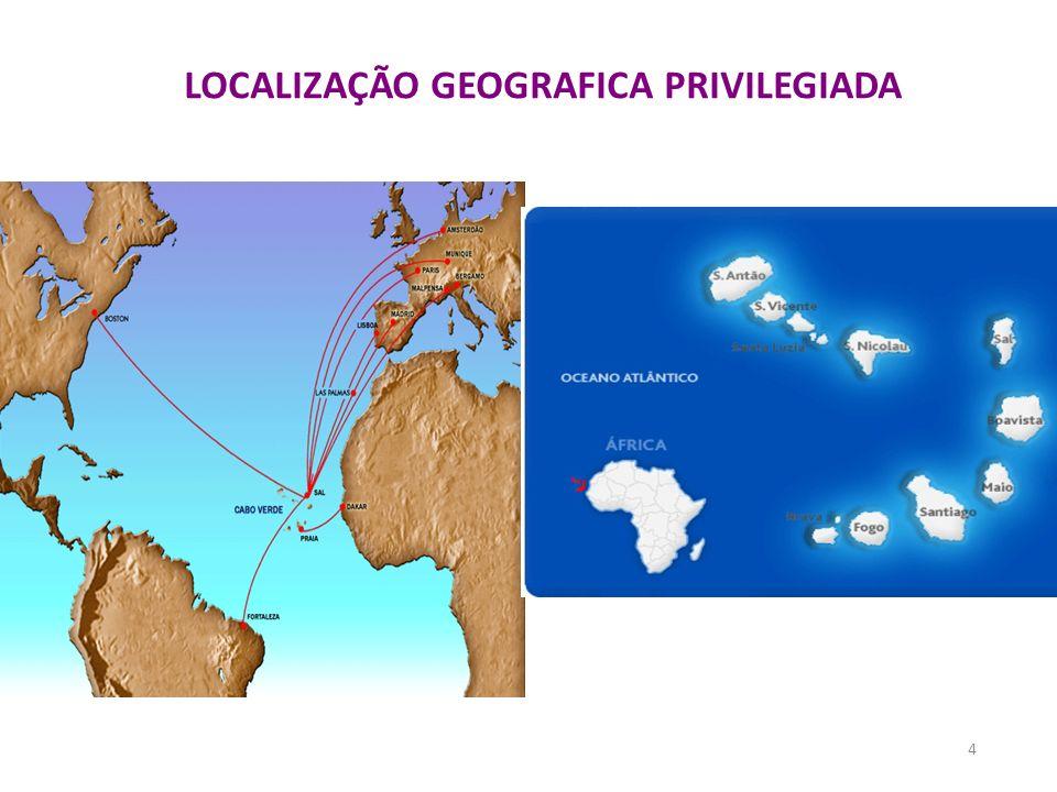 LOCALIZAÇÃO GEOGRAFICA PRIVILEGIADA