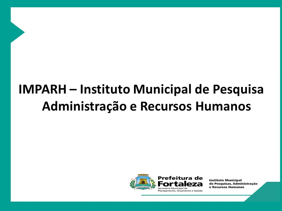 IMPARH – Instituto Municipal de Pesquisa Administração e Recursos Humanos