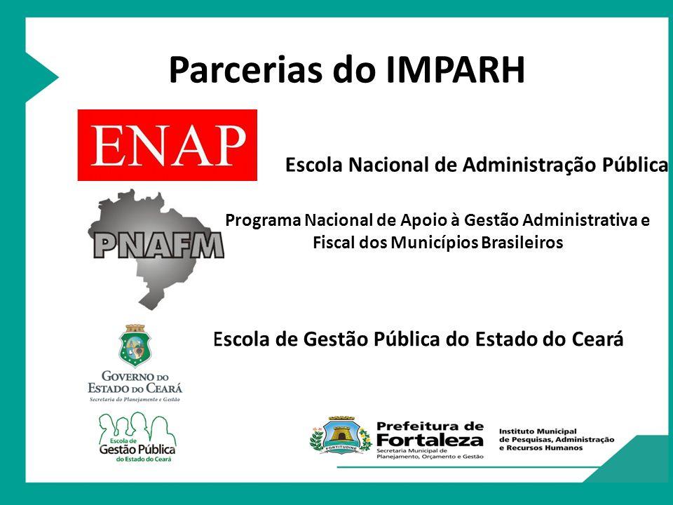 Parcerias do IMPARH Escola Nacional de Administração Pública